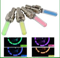 Wholesale LED Flash Light Bike Wheel Lights Tyre Wheel Valve Cap Light Bike Bicycle Motorcycle Car Wheel Light Tyre Aluminium Material LED Car Light
