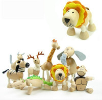 baby toys australia - ANAMALZ Moveable Maple Wooden Animals Australia Wood Handmade Farm styles Animals Toy Baby Educational Wooden Toys