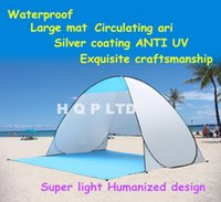 Wholesale High quality Beach tent Outdoor camping hiking camping tourism disaster beach Instant portable tent UV protection sun shade waterproof