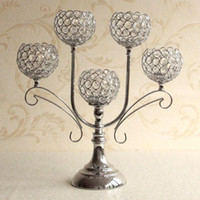 accessories tabletop decorations - Home Decor Crystal Candle Holder Event Party Supplies Centerpieces Decoration Dining Tabletop Accessories Candlestick Candelabra Pillars