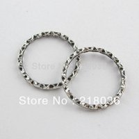 Wholesale HOT Tibetan Silver Tone Ring Jump Charms Connectors DIY Metal Jewelry mm A1366