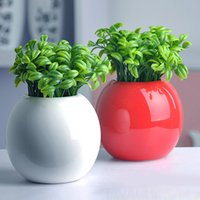 Wholesale 2015 New Fashion Bean Sprout Artificial Fake Plant Plastic Potted Home Office Table Desk Decor
