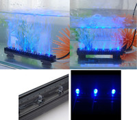 Wholesale 16 CM RGB Blue LED Aquarium Fish Tank Submersible Light Air Bubble Lamp V