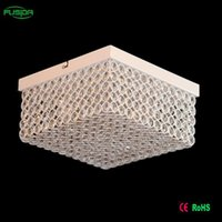 antique indian lamp - High Quality Antique Indian lobby Ceiling Lights Square shape vintage crystal chandeliers decoration ceiling light lamp for