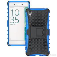achat en gros de téléphones xperia-Heavy Duty Rugged Defender Cell Phone Housse de protection hybride Kickstand pour Sony Xperia E4 E4G E5 M4 Aqua M5 X XA couverture résistant aux chocs