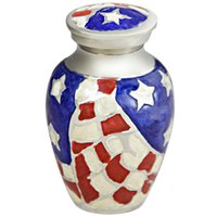 american funerals - Funeral Urn Keepsake Cremation Urn for Hand carved from brass Fits a Small Amount of Cremated Remains American Hero