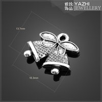 bell components - Christmas bells alloy charm pendant Antique silver DIY jewelry accessory DIY jewelry Findings Components