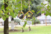 Wholesale DHL Shipping Totoro Wind Chimes Cute Cartoon Windbells Creative Home Decor Chinchilla Pendant Resin Fancy Hanging Decoration Gift