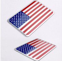 american flag car stickers - 1pcs Car Styling The United States American Flag Car stickers For Cadillac Buick Chevrolet Lincoln Chrysler Jeep Dodge Focus