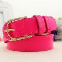 Wholesale 2016 New Fashion Women belts cm fluorescent color alloy buckle wide belt jeans accessories