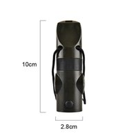 backpacking thermometer - 7 In Survival Whistle Outdoor Multi function Whistle Survival Whistle Flashlight Compass Thermometer Magnifier Outdoor Gear