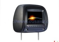 auto player accessories - New TFT Led Car Dvd Player Headrest DvD Player Zipper Headrest Monitor Auto Accessories