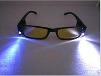 Wholesale Led light glasses LED Reading glasses readers with battery prescription eyeglasses gifts for elders
