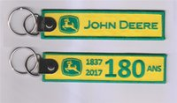 ans logo - John Deere Ans Custom Logo Embroidery Fabric Keychain x31mm