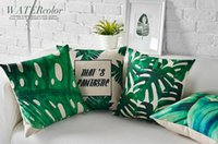 asian beds - Southeast Asian Tropical Plants Green Nature Emoji Bedding Massage Pillow Case Cover Body Decorative Pillows Home Decor Gift