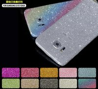 rhinestone sticker - glitter Bling Rhinestone Stickers for iPhone S plus S SE S5 S6 S7 edge Note Full Body shield sticker with package