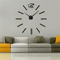 Wholesale factory direct selling Modern design Fashion Art Home decoration large quartz Acrylic mirror D DIY wall clock M001