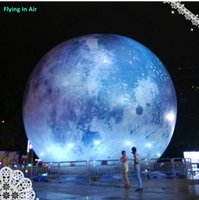 Wholesale 6m Advertising Inflatable Giant Moon for Outdoor with LED Light