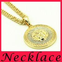 badge alloys - Hip hop European and American badges alloy head alloy necklace HIPHOP hip hop trend in Europe and the United States