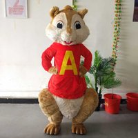 alvin chipmunk pictures - ohlees realactual picture Alvin and the Chipmunks squirrel Mascot Costume for Halloween christmas Party Costume Cartoon costume