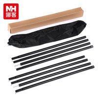 aluminium awning - NatureHike Aluminium Alloy Outdoor Sun Shelter Poles Awning Support Rods Set Black