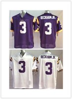 Wholesale Youth Kids Odell Beckham JR Jerseys LSU Tigers Odell Beckham JR College Football Jersey Stitched Purple White Jerseys Mix Order