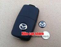 Wholesale 2pcs Mazda mm car Remote key fob logo emblem sticker Auto key Shell badge Self adhesive