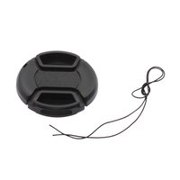 Wholesale In stock mm Front Lens Hood Cap Cover for all Canon Lens Filter with cord Newest