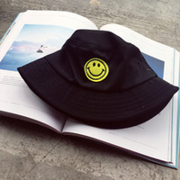 Wholesale 2016 new fashion trend smile embroidery fisherman hat hat hat
