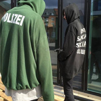 Wholesale Vetements Polizei Men Hoodies Supremo Police Hip Hop Skate Unisex Kanye OVERSIZE Hoody Paris Palais Shark Harajuku hoodies sweatshirts
