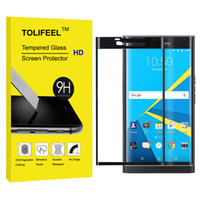 Wholesale Black D Full Coverage Curved Tempered Glass Film H Screen Protector For Blackberry Priv High Quality