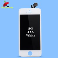 Wholesale 1pcs Black and White color Replacement Touch Panel LCDs Display Digitizer Assembly For Iphone5 C S