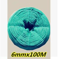 Wholesale 6mmx100M New material green PE nylon rope Nylon rope use Ads with rope Greenhouse plants Climbing Tied rope Tent rope etc