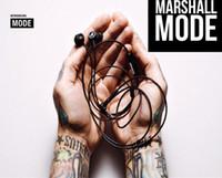 amazing mobile - Amazing sound Marshall MODE headphones in ear headset black earphones with mic HiFi ear buds headphones universal for mobile phones DHL
