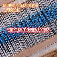 envío al por mayor-100pcs 9.1 ohm 1 / 4W 9.1R Metal Film Resistencia 9.1ohm 0,25 W 1% ROHS