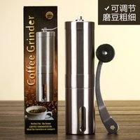 Wholesale top quality stainless manual coffee grinder maker ling g coffee bean grining machine portable fancy coffee grinder