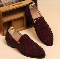 studded shoes - HOT sale brand new Fashion Mens Punk Studded Rivet Spike Suede Pointy Loafer Casual Dress Shoes EUR size NX340