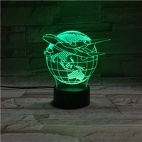 Wholesale Star Wars Superhero colorful changing visual illusion LED lamp Darth Vader Millennium Falcon toy D light action figure plastic base