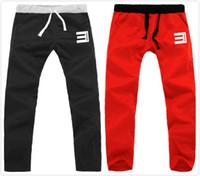 Wholesale colors unisex eminem Hip Hop trousers thick casual pants sports sweatpants with elastic belt