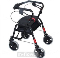aluminium shop - With Storage Bag Wheel Seat Folding Titanium aluminium Alloy Multipurpose Mobility Aids Travel Shopping Cart Trolley Walker Walking Aid