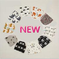 Wholesale 2016 New Arrival Baby Y Boys Girls Fox Panda Hat Cartoon Tiger Cap Kids Animal Pattern Hats free shiping