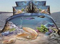 beach quilt cover - modern D effect romantic lover beach love home bed linen bedclothes comforter duvet quilt cover bed sheet bedding set