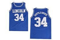 Wholesale Jesus Shuttlesworth jersey cheap Basketball jersey Stitched embroidery Logos White And Blue S XXL