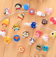 Wholesale Cable Saver Cartoon Minions Silicone USB Charger Cable Earphone Wire Cord Protector For iPhone Plus iPad iPod Samsung Phone Accessories