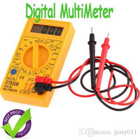 Wholesale DT830BDT B AC DC Digital Electric Checker Tester Digital Multimeter with retail box Yellow Black Multimetro LCR Meter Ammeter