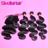 big human body - 2015 big sale A Cheap Body Wave hair Bundles with Superb Lace Closure Brazilian Natural Human Hair X4 Free Middle three Part Stock