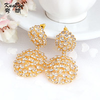 Wholesale Korea fashion women s Diamond Earrings Crystal Earrings carat gold colored gemstone earrings jewelry