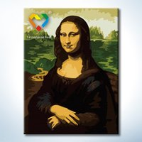 baby lisa - Mona Lisa DIY Painting Baby Toys x40cm Coloring Canvas Oil Painting Kids Drawing Toys Set for Home Decoration with SGS PONY CNAS