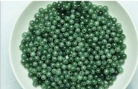 Wholesale 300pcs MM Natural emerald Burmese Jade green jade beads ice round bead DIY bracelet necklace Loose Beads Fast Shopping