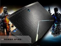 Wholesale KH Laptop Special Carbon Crocodile Snake D Crocodile Leather Cover Sticker Skin Protector For DELL Alienware version New M17X